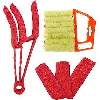 Kit de perie de curățare pentru jaluzele venețiene accesoriu de curățare manuală pentru jaluzele, Shutter Cleaner, fereastra aer conditionat Cleaner praf perie detașabilă pentru a