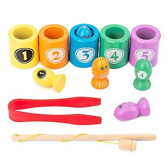 Beaded Fishing Toy For Children Magnetic Multi-functional Intelligence Development