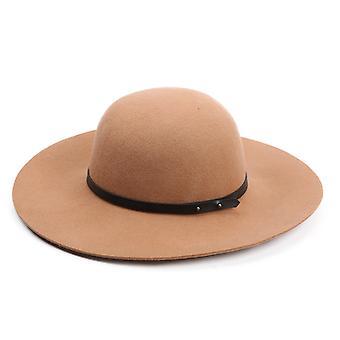 Estilo europeu e americano Retro Chapéu de Lã Chapéu Top Hat Feminino Outono e Inverno Britânico Lazer Versátil Chapéu de Jazz