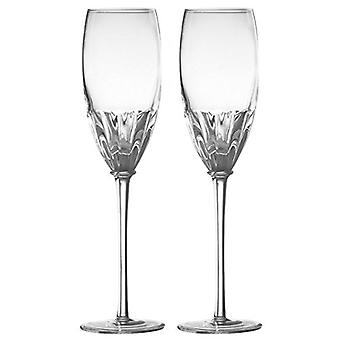 Anton Studio Set of 2 Solar Champagne Flutes, Clear
