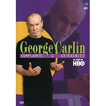 George Carlin - George Carlin: Klagomål & Greviances [DVD] USA import