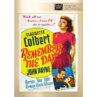 Kom ihåg dagen [DVD] USA import
