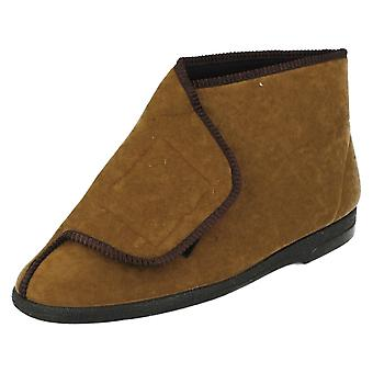 Mens Balmoral Lounge Slippers Velcro Boot