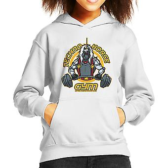 Techno Horse Gym Bravestarr Kid's Hooded Sweatshirt