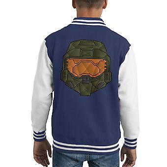 Master Chief Polygon Halo Kid Varsity Jacket
