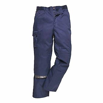 Portwest - Heavy Duty Workwear Multi Pocket Trousers With Knee Pad Pocket