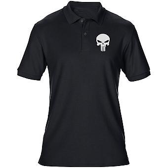 Justiceiro de batalhão do exército norueguês Telemark bordado logotipo - Mens Polo camisa