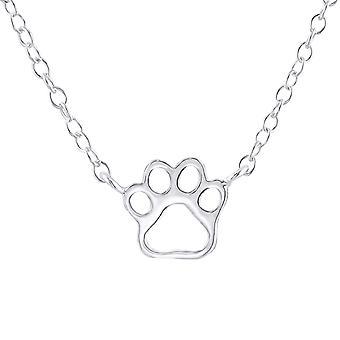 Paw Print - 925 Sterling Silver Plain Necklaces - W22403X