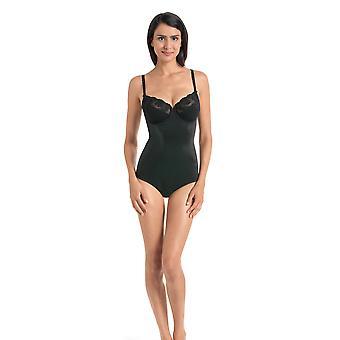 Rosa Faia 3467-001 Damen Charlize schwarz bestickt Bügeln Body Einteiler Body