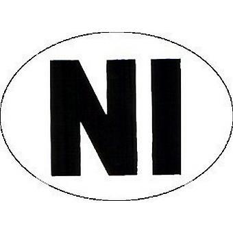 W4 Large Oval NI Sticker