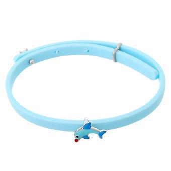 Orphelia Silver 925 Kids armband gummi W / Dolphin justerbar ZA-7156/blå