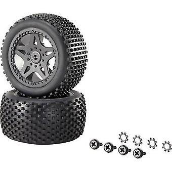 Reely 1:10 XS Buggy Wheels Multipin 5-Doppel Speiche Schwarz 1 Paar