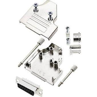 encitech MHDM35-15-DMS-K 6355-0008-12 D-SUB opvangbakje set 180 ° aantal pinnen: 15 soldeer emmer 1 set
