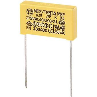 MKP-X2 1 PC('s) MKP-X2 onderdrukking condensator radiaal leiden 0,15 µF 275 V AC 10% 22.5 mm (L x W x H) 26,5 x 6 x 15 mm