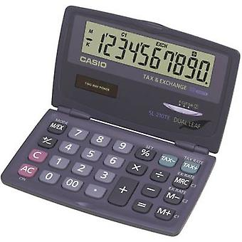 Casio SL-210TE Pocket calculator Anthracite Display (digits): 10 solar-powered, battery-powered (W x H x D) 120 x 12.5 x 73 mm