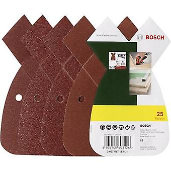 Bosch Accessories 2607017113 Multi-purpose sandpaper set Hook-and-loop-backed, Punched Grit size 80, 120, 180 (L x W) 93 mm x 62 mm 1 Set