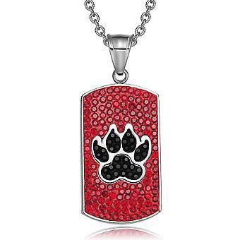 Wolf pote østerriksk Crystals Amulet beskyttelse krefter kirsebær røde Jet svart hunden Tag anheng halskjede