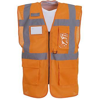 Yoko Mens Hi Vis Top Cool Open Mesh Executive Safety Waistcoat