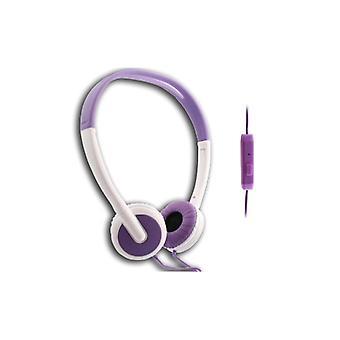 UMA - léger universel un casque stéréo 3,5 mm - Violet/blanc