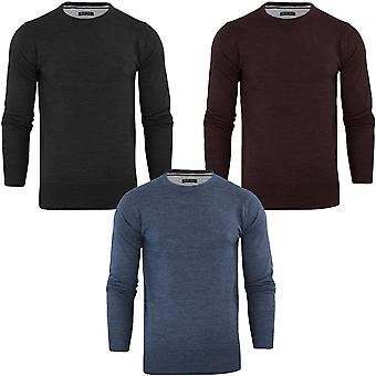 Brave Soul Mens Parse Big Tall King Size Long Sleeve Crew Neck Jumper Sweater