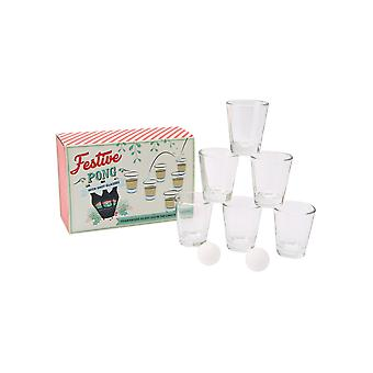 Joy To The World Festive Pong Shot Glass Set