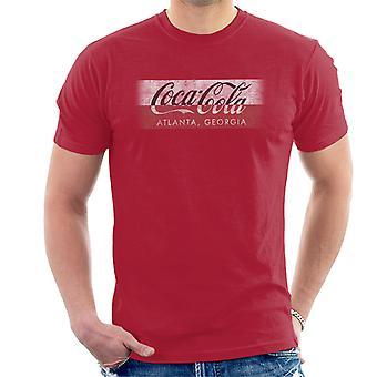 Coca Cola Georgien Stripe mäns T-Shirt