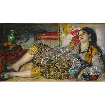 Odalisque or Woman of Algiers,Pierre Renoir,80x40cm