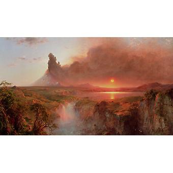 Cotopaxi, Frederic E. Church, 80x40cm