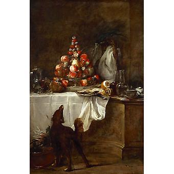 The Buffet,jean-Baptiste-Simeon Chardin,60x40cm