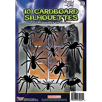 Silhouette Shadow Spiders 10pc