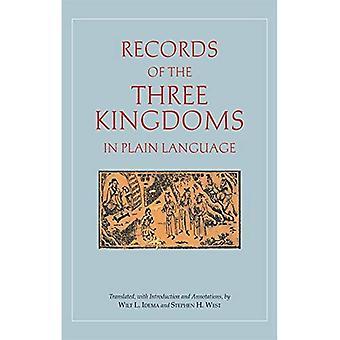 Register över de tre kungadömena i klartext