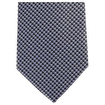 Knightsbridge Neckwear géométrique régulière Polyester cravate - noir/gris