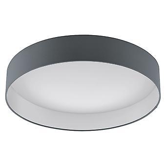 Eglo - Palomaro Single Light LED große Flush Decke passend In weiß Acryl und grauem Stoff beenden EG93397