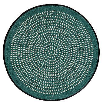 Salonloewe runde Fußmatte Nestor round sage 65 cm waschbare Schmutzmatte