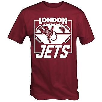 London jets t shirt zero gravity football dwarf red lister dave