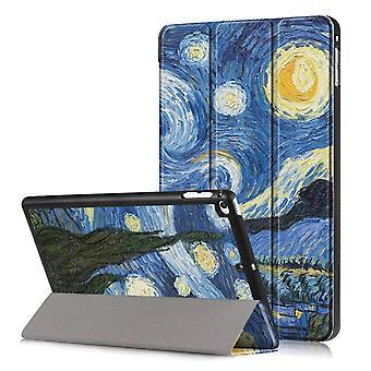 iPad Mini 2019/Mini 4 Ajuste delgado Tri-fold caja-Cielo estrellado