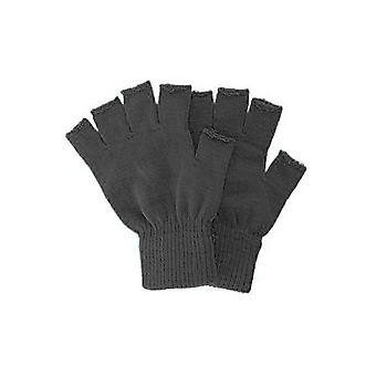 Handschoenen gebreide Vingerloze handschoenen zwart