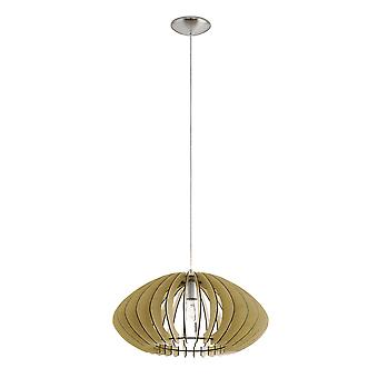 Eglo Cossano 2 Wooden Pendant Light In Maple Wood