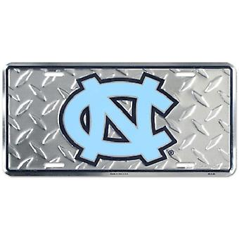 "North Carolina Tar Heels NCAA ""Diamond"" License Plate"