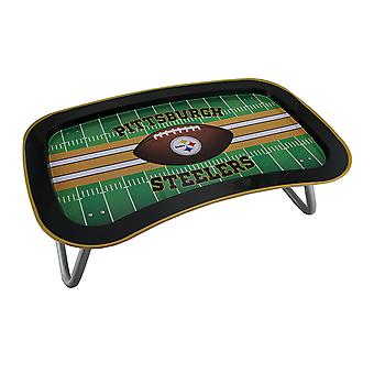 NFL Pittsburgh Steelers Multi-function Metal Lap Tray w/Folding Legs 22 Inch