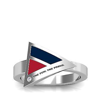 US Marines Diamond Ring i Sterling Silver design av BIXLER