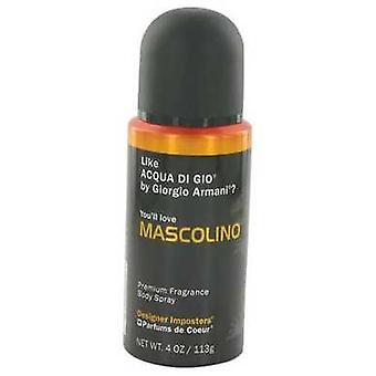 Designer inposters Mascolino door parfums de Coeur lichaam Spray 4 oz (mannen) V728-517802