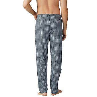 Mey 19060-188 Menn's Lounge Ciel Blå Flis Print Bomull Pyjamas Pyjamas Bukse