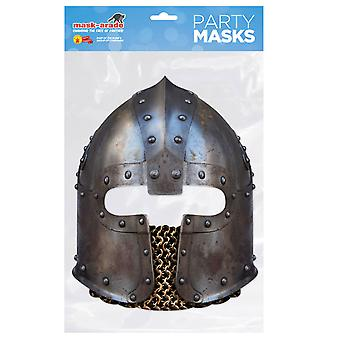 Norman Knight's Helmet Historical Single 2D Card Party Fancy Dress Mask