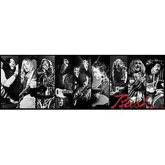 Poster - RUSH - Black/White Team Group Wall Art Gifts (Slim Size) 12048