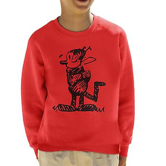 Krazy Kat Stood Up Kid's Sweatshirt
