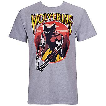 Wolverine Character Arcade Style Hommes-apos;t-shirt