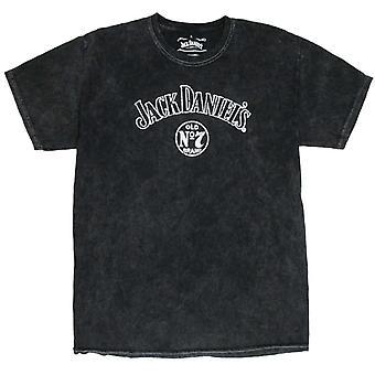 Jack Daniels Tie Dye Black Tee Shirt