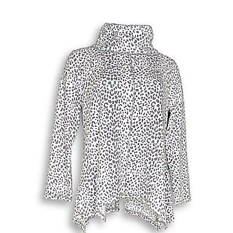 Carole Hochman Women's Sleepshirt Waffle Fleece Novelty Print Gray A311258