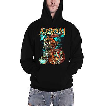 Alestorm Hoodie Get Drunk Or Die Band Logo new Official Mens Black Pullover